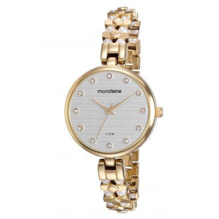 357b8260c48 Relógio Mondaine Dourado Feminino 76595LPMVDM1 - Atlantis Relógios