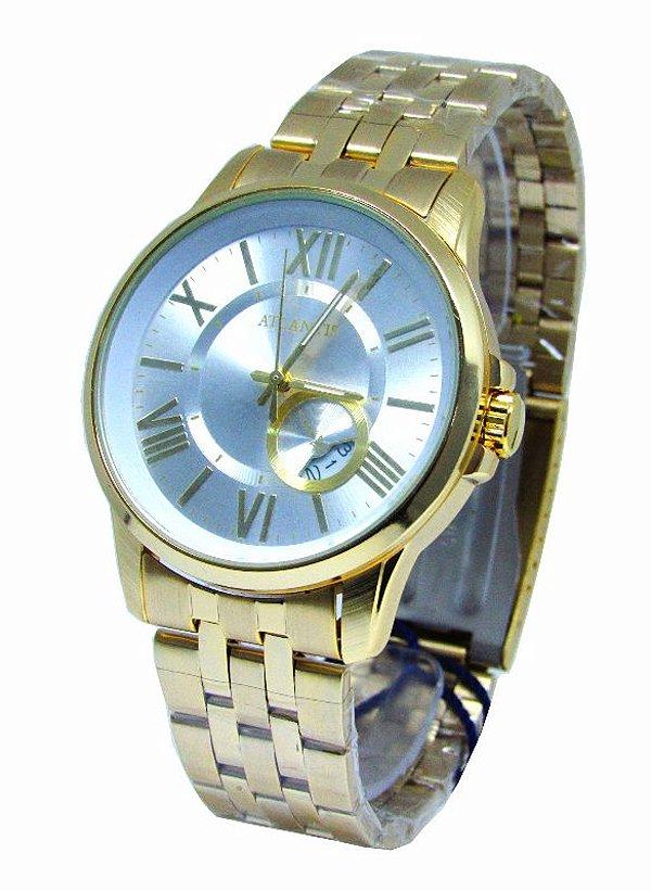 faf7c9a8611 RELOGIO FEMININO ATLANTIS G3390 FUNDO BRANCO - Atlantis Relógios