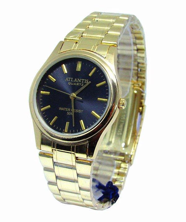 412383f3b12 RELOGIO FEMININO ATLANTIS G6985 FUNDO PRETO - Atlantis Relógios