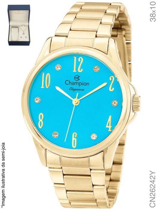 13f73677aed Relógio Champion Analógico Feminino CN26242Y - Atlantis Relógios