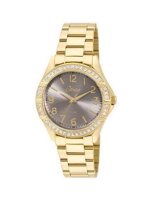 50cc85af606 Relógio Condor Feminino Dourado CO2035KUS 4C - Atlantis Relógios