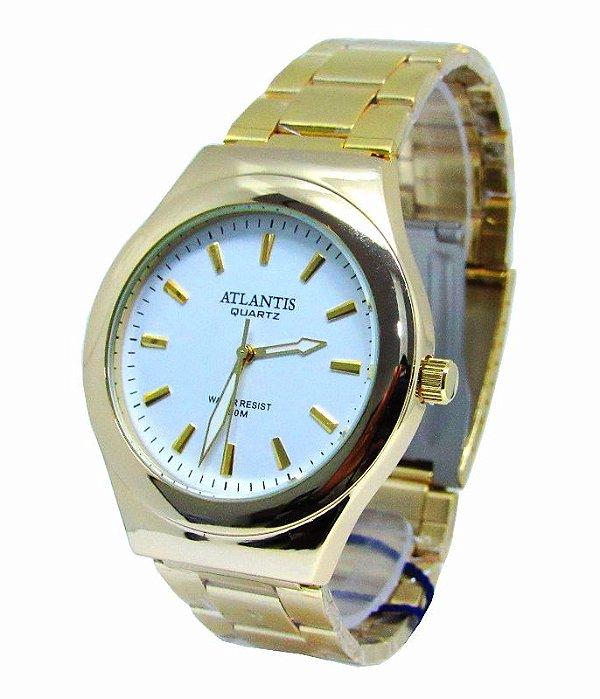 30abdfc4c5e RELOGIO FEMININO ATLANTIS G3340 DOURADO FUNDO BRANCO - Atlantis Relógios