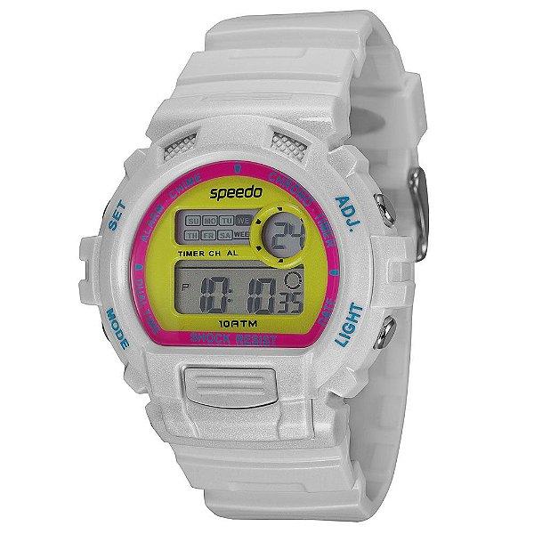 39d7cfa750f Relógio Feminino Digital Speedo 65083L0EVNP5 - Branco - Atlantis ...