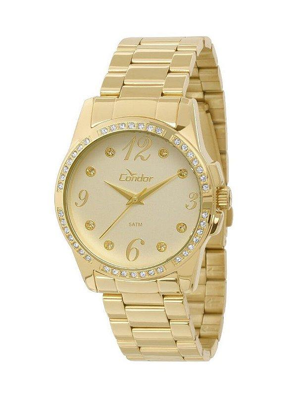 a1774d8c3ae Relógio Condor Feminino CO2036CI 4X Dourado - Atlantis Relógios