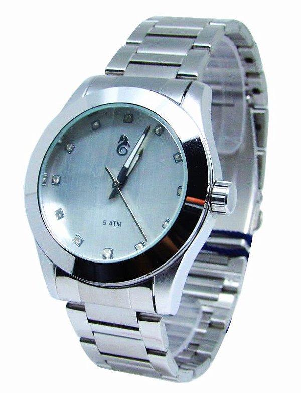 aea2260ff7e RELOGIO FEMININO ATLANTIS G3352 PRATA FUNDO BRANCO - Atlantis Relógios