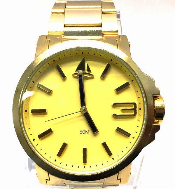 a312452a468 RELOGIO MASCULINO MARINUS J3374 FUNDO DOURADO - Atlantis Relógios