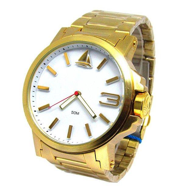828064b17b1 RELOGIO MASCULINO MARINUS J3374 FUNDO BRANCO - Atlantis Relógios
