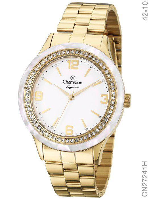 bc406335a73 RELÓGIO CHAMPION FEMININO DOURADO CN27241H - Atlantis Relógios