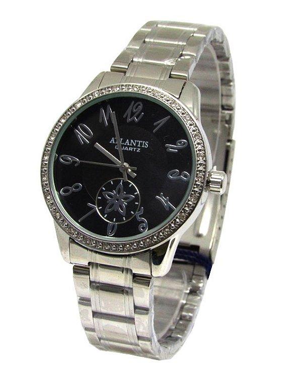 2639691d7ea RELOGIO FEMININO ATLANTIS G3471 FUNDO PRETO - Atlantis Relógios