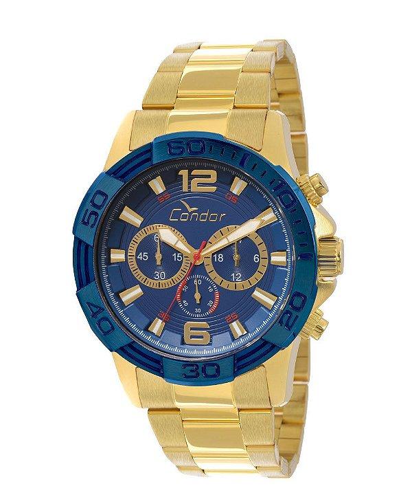e62060ce3a7 Relógio Masculino Condor COVD54AA4A DOURADO FUNCIONAL - Atlantis ...
