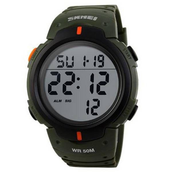 d9133d0d40e Relógio Masculino Skmei Digital 1068 Verde Militar - Atlantis Relógios