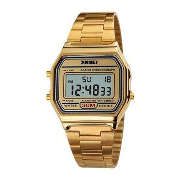 d84a2bd9c92 Relógio Skmei Digital 1123 Dourado Retro - Atlantis Relógios