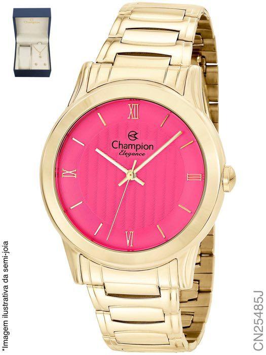 66d92967eff KIT RELOGIO FEMININO CHAMPION CN25485J COM SEMI JOIA - Atlantis Relógios