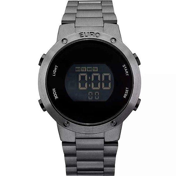 2991401aabb Relógio Feminino Euro Eubj3279ae 4k Grafite Digital - Atlantis Relógios