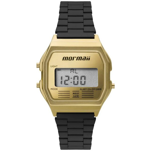 700b9051f4d Relógio Mormaii Feminino Vintage Mojh02ak 4d Preto Dourado ...