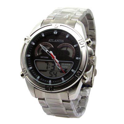 11576bf8ed0 RELOGIO MASCULINO ATLANTIS G3446 ANADIGI PRATA - Atlantis Relógios
