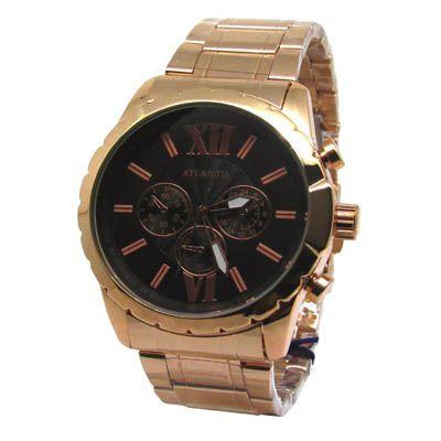65664dbea3d RELOGIO FEMININO ATLANTIS G3364 ROSE FUNDO PRETO - Atlantis Relógios