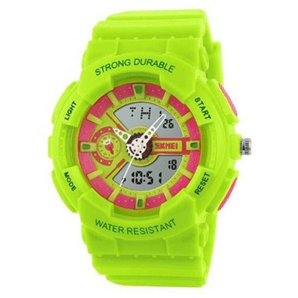 3afbe460d00 Relogio Infantil Skmei Anadigi 1052 Verde e Rosa - Atlantis Relógios