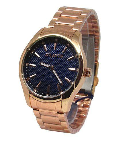 1eb1f3f92c8 RELOGIO UNISSEX ATLANTIS G3517 ROSE FUNDO AZUL - Atlantis Relógios