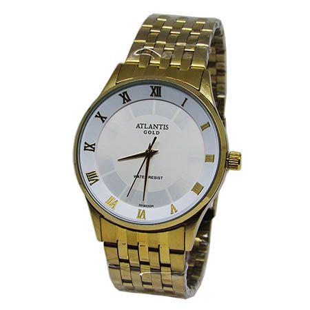ad11bbaf259 RELOGIO FEMININO ATLANTIS G3518 DOURADO FUNDO BRANCO - Atlantis Relógios