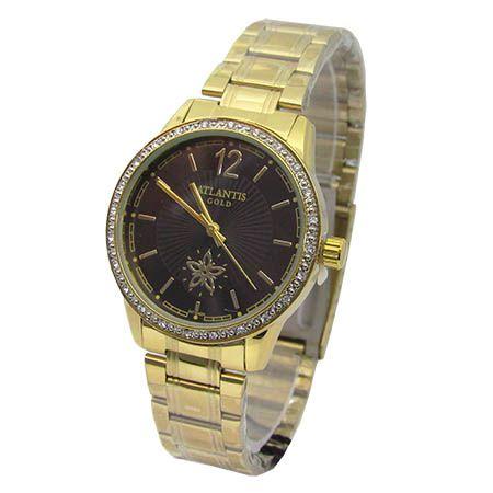 e042afb52de RELOGIO FEMININO ATLANTIS G3471 DOURADO FUNDO PRETO - Atlantis Relógios