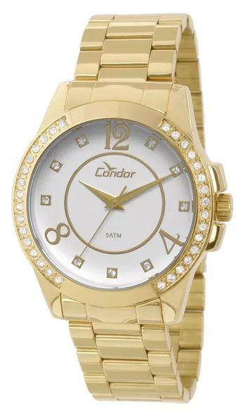33e559ee0a2 RELOGIO CONDOR FEMININO DOURADO CO2036CH 4K - Atlantis Relógios