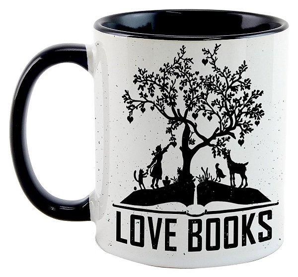 Caneca Bookstagram - Love Books Black
