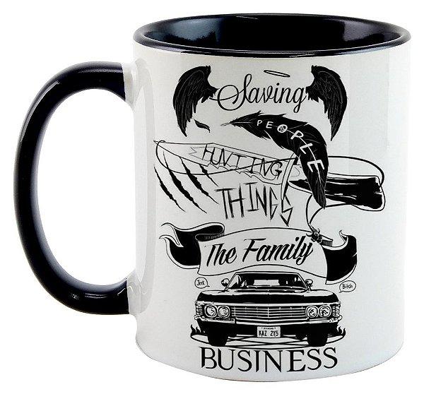 Caneca - Série Supernatural - Negócios de Família