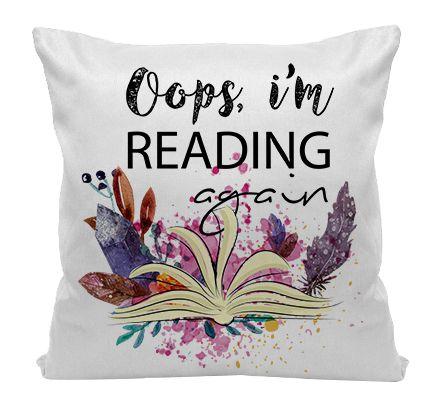 Almofada - Bookstagram - Oops, i'm Reading Again