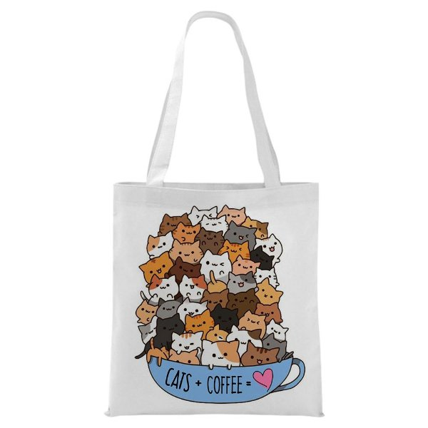 Ecobag - Cats + Coffe