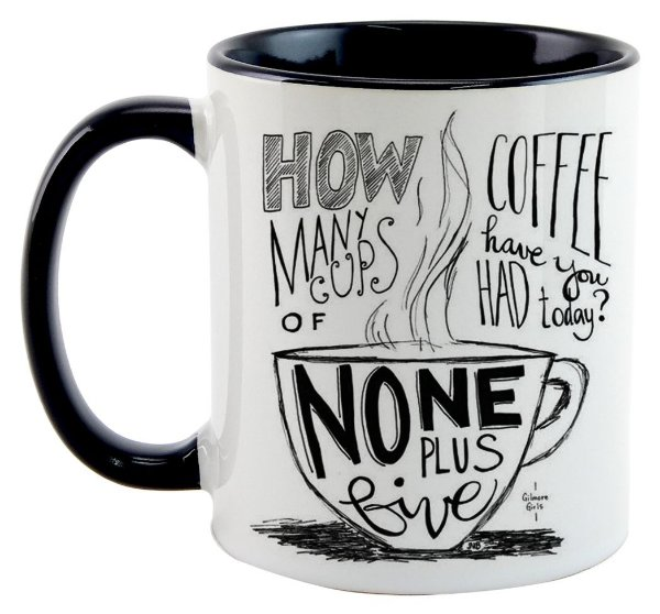 Caneca -Série Gilmore Girls - How many cups of Coffee