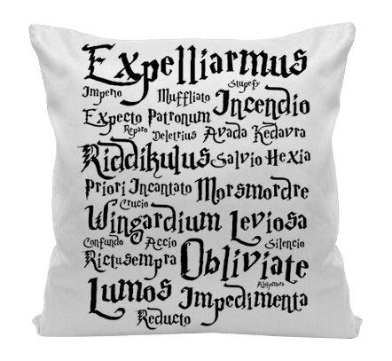 Almofada - Harry Potter - Feitiços