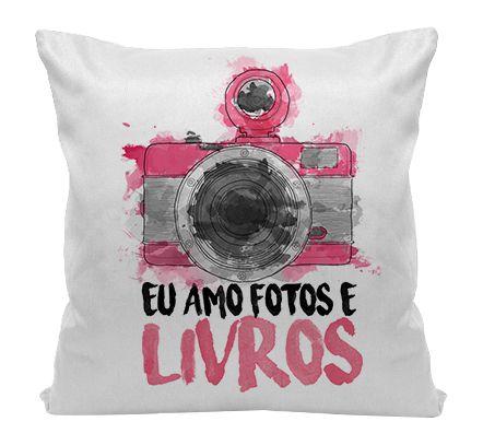 Almofada - Amo fotos e Livros