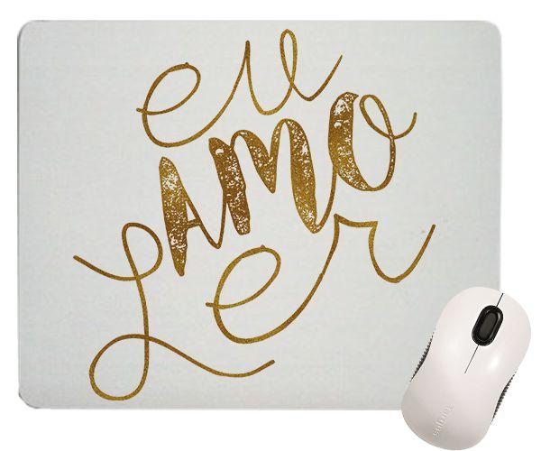 Mouse Pad - Eu amo Ler