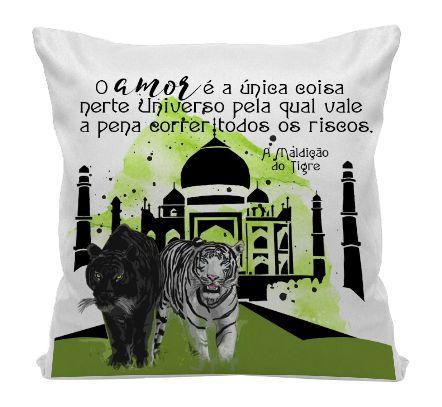 Almofada - Livro A Maldição do Tigre