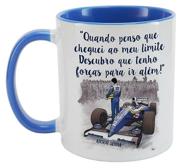 Caneca - Airton Senna - Frase