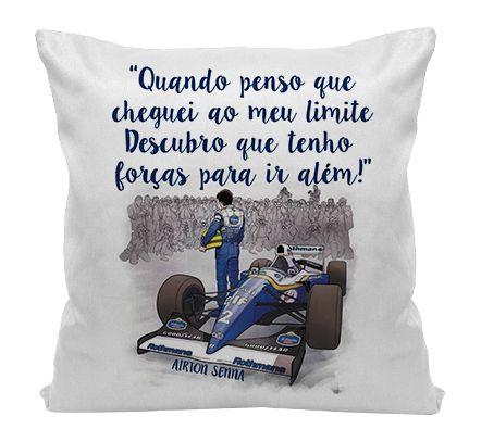 Almofada - Airton Senna - Frase
