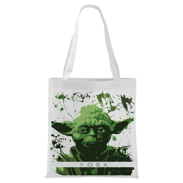 Ecobag - Star Wars - Yoda - Aquarela