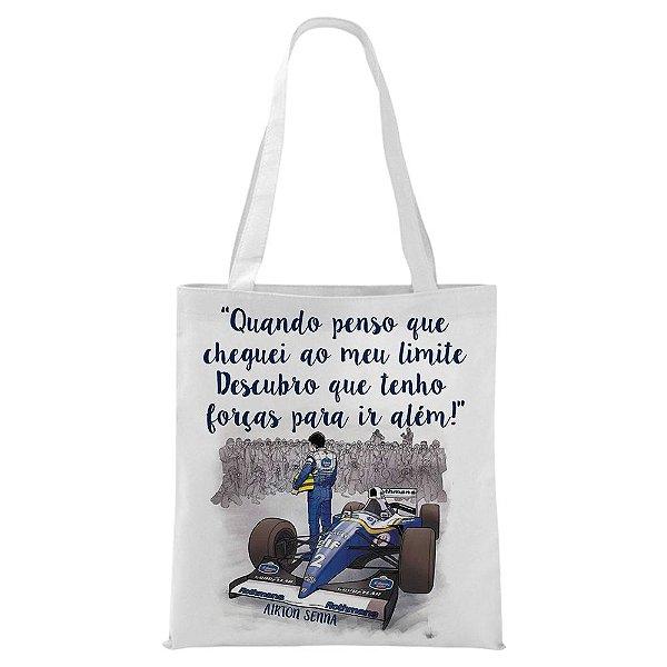 Ecobag - Airton Senna - Frase