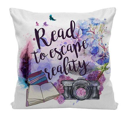 Almofada - Bookstagram - Read to Escape