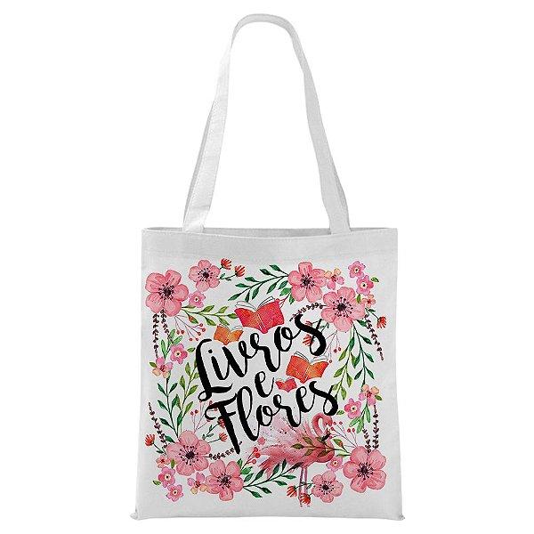 Ecobag - Livros e Flores