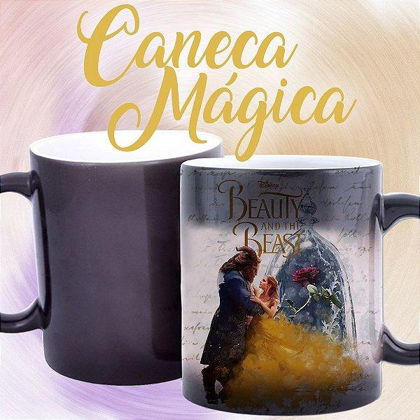 Caneca Mágica - A Bela e a Fera - Rosa