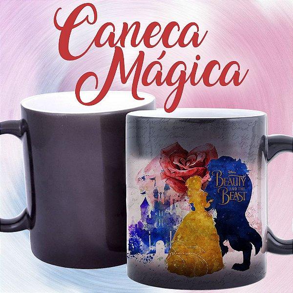 Caneca Mágica - A Bela e a Fera - Silhuetas