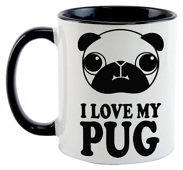 Caneca - Eu amo meu Pug