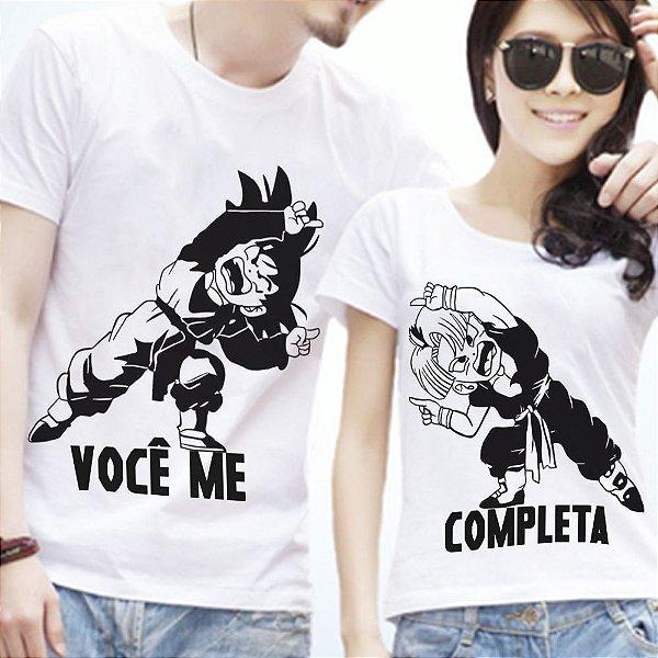 Camisetas - Você me completa - Goku  e Trunks