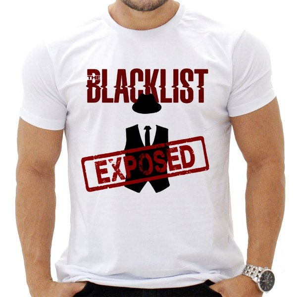 Camiseta Masculina - The Black List - Exposed