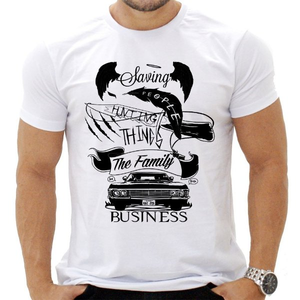 Camiseta Masculina - Supernatural - Negócios de Familia