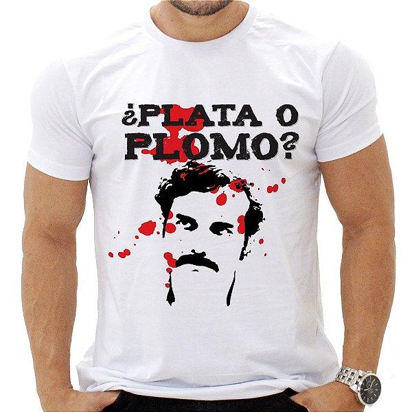 Camiseta Masculina - Plata o Plomo?