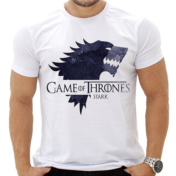 Camiseta Masculina - Gameof Thrones - Casa Stark