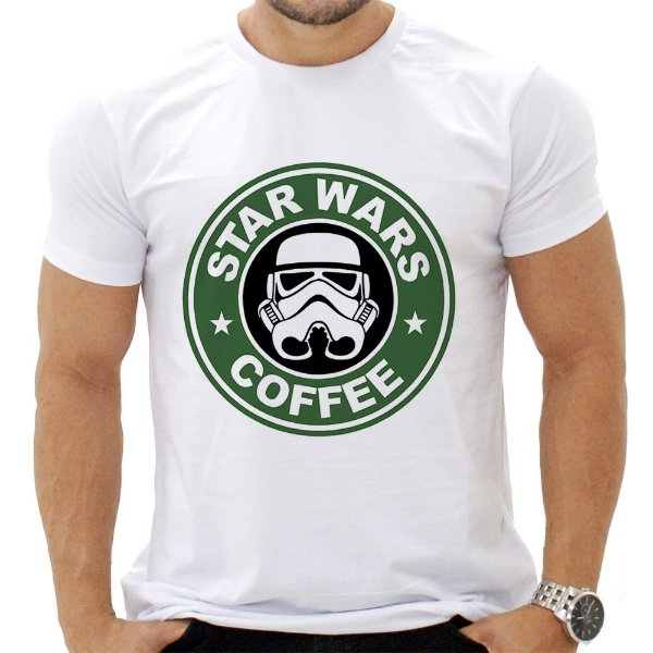 Camiseta Masculina - Star Wars Coffee
